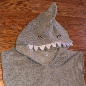 Shark hooded towel cover up